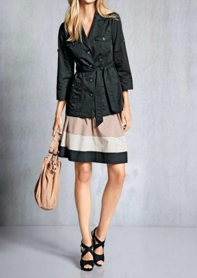 Jacket with belt, black