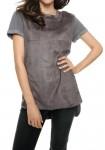 Leather imitation shirt, grey