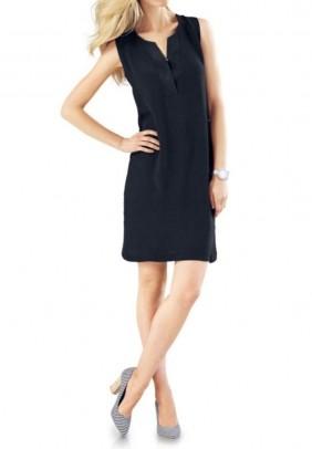 Tamsiai mėlyna elegantiška suknelė