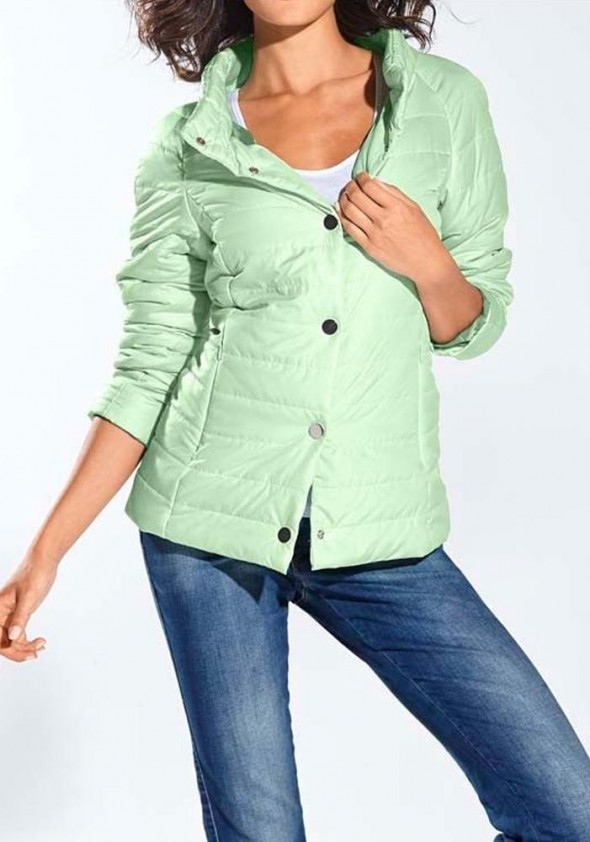 Quilted jacket, mint
