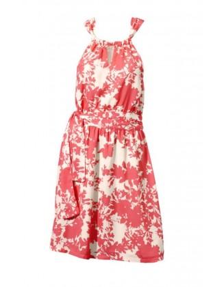 Koralo spalvos vasarinė suknelė