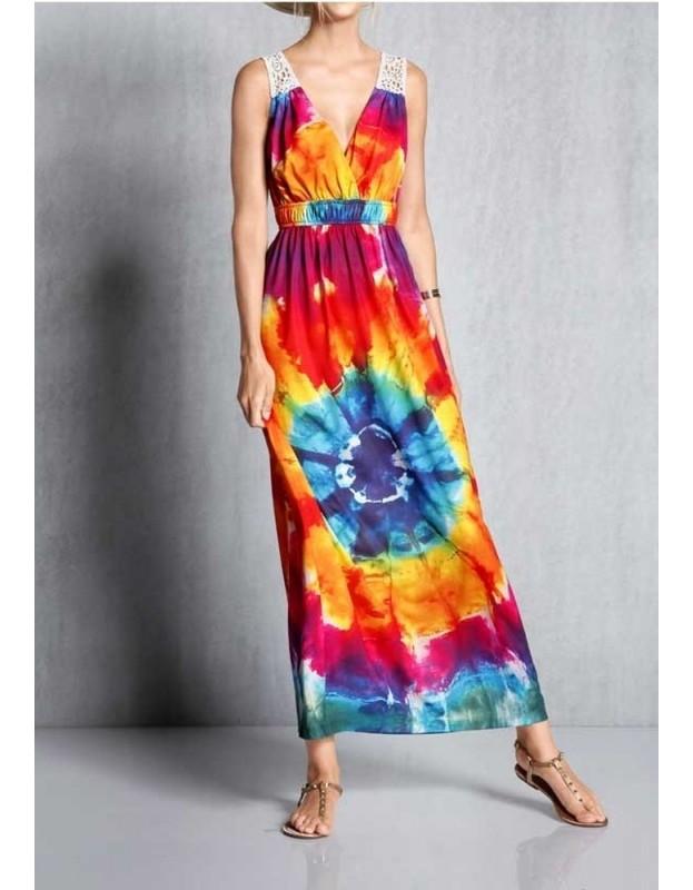 Ryški maxi suknelė