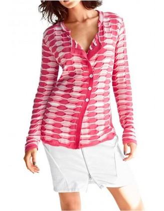 Ryškus megztinis su sagomis