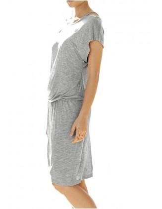 Pilka trikotažinė suknelė