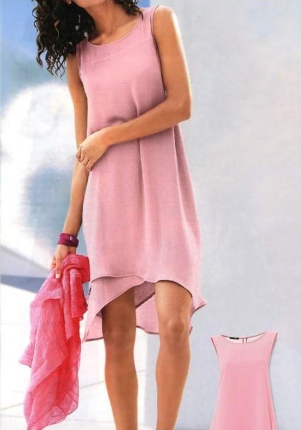 Rausva elegantiška suknelė