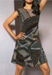 Originalaus rašto suknelė