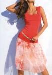 Rausvas romantiškas sijonas