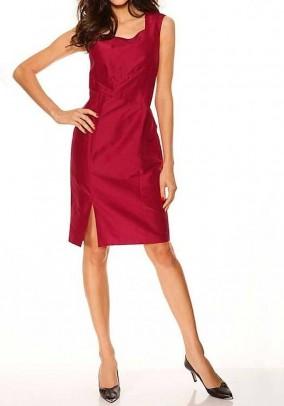 Raudona šilkinė suknelė. Liko 42/44 dydis