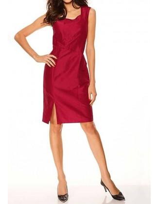 Raudona šilkinė S. Madan suknelė