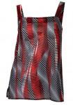 Printed top, black-red