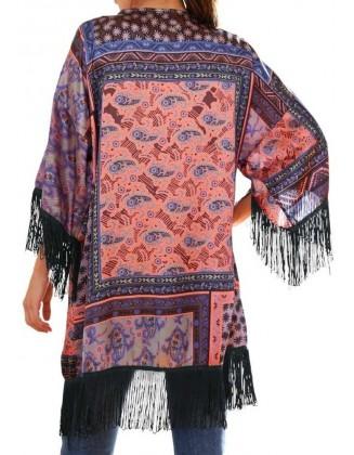 Spalvotas kimono