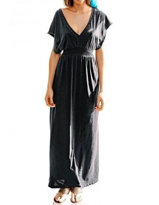 Ilga trikotažinė suknelė