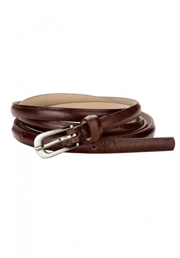 leather wrap around belt brown