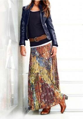 Ilgas margaspalvis sijonas