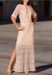 Ekstravagantiška ilga suknelė