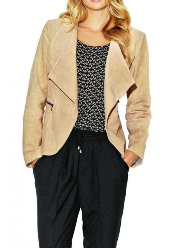 Leather jacket, sand