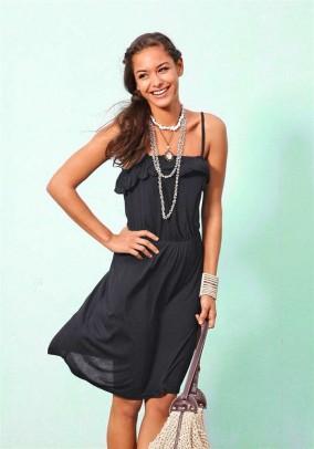 Flounce dress, black