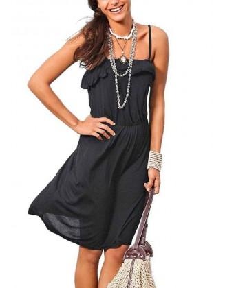 Juoda laisvalaikio suknelė