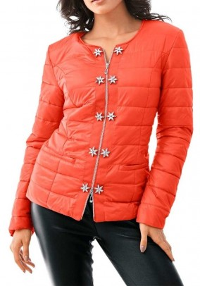 Jacket with strass, orange