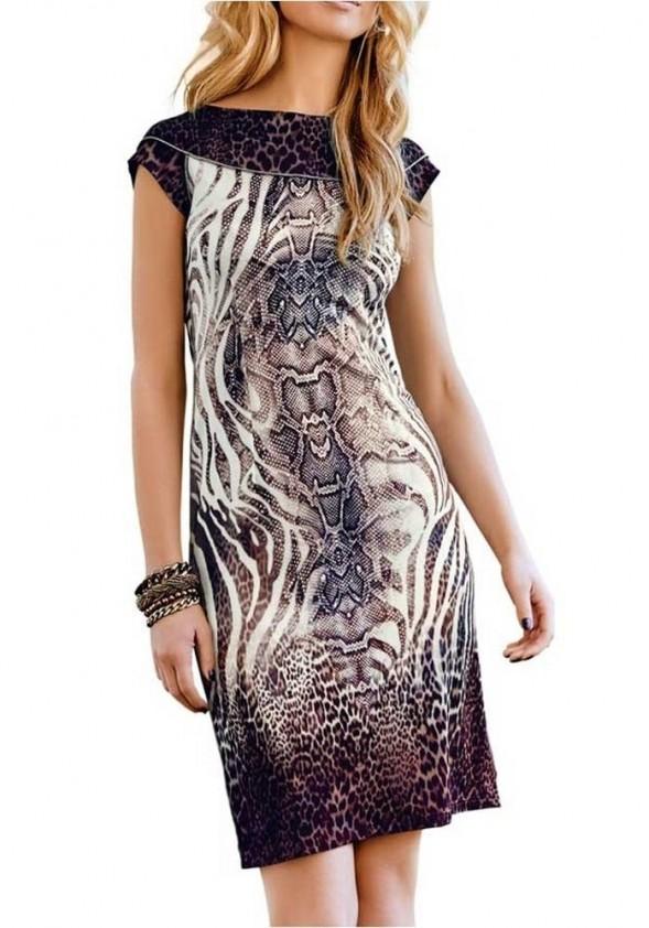 Suknelė su ornamentais