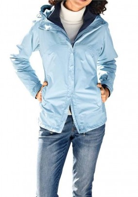 Two in one function jacket, light blue - blue