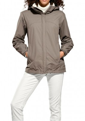 Finction jacket, taupe-offwhite