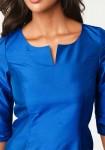 Mėlyna šilkinė palaidinė
