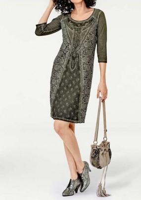 Chaki spalvos stilinga suknelė