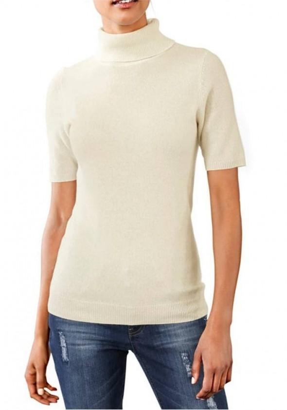 Cashmere shirt, wool white