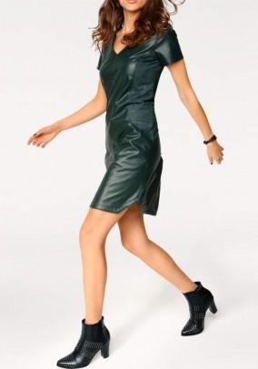 Žalia odinė suknelė. Liko 38 dydis