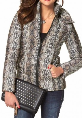 Snakeprint jacket, brown-multicolour