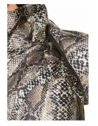 Gyvatės rašto ruda striukė