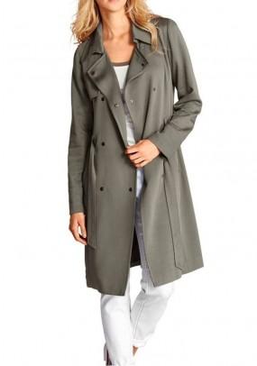 Elegantiškas chaki paltas