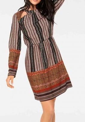 Rudeniškų spalvų suknelė. Liko 36/38 dydis