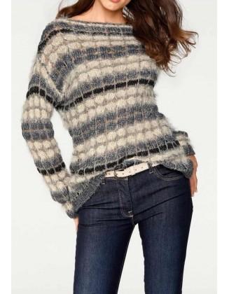 Pūkuotas pastelinis megztinis