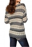 Fluffy sweatshirt, grey-cream