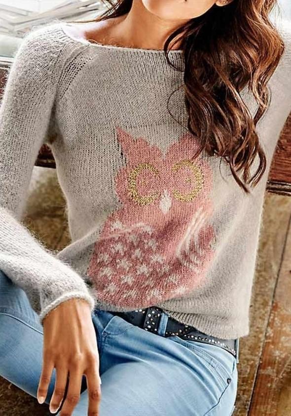 Dekoruotas megztinis su vilna