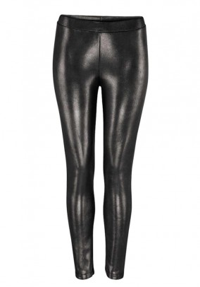 Jersey leggings, brown-metalic