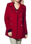Trumpas vilnonis raudonas paltukas