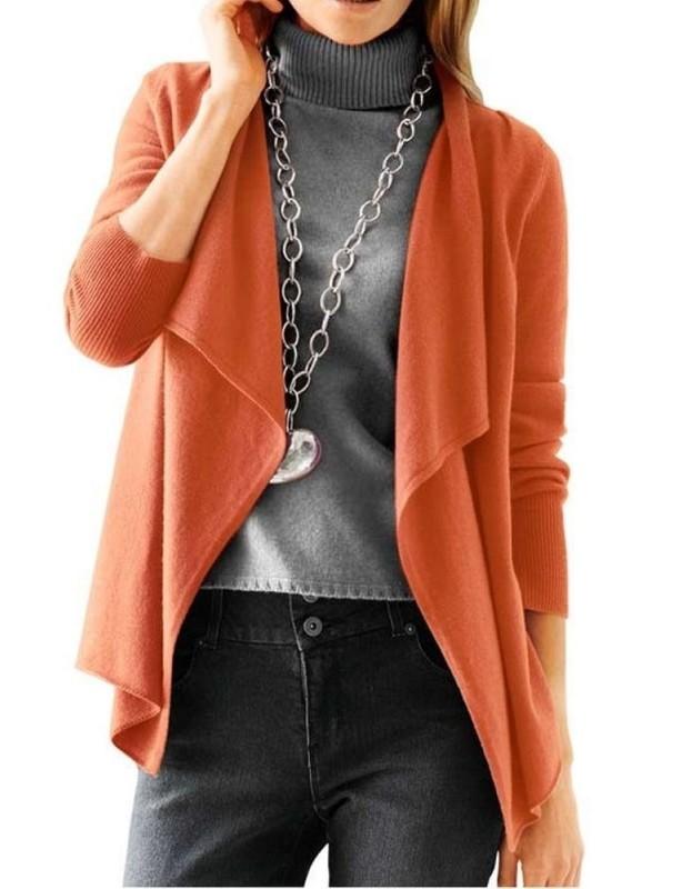 Oranžinis kašmyro megztinis