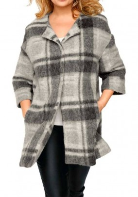 Fleece coat, grey