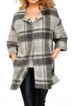 Fleece coat, grey