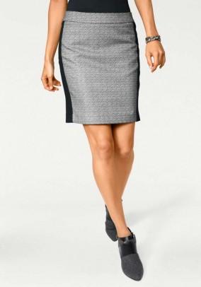 Pilkas klasikinis sijonas