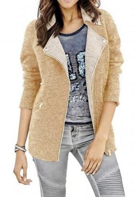 Wool blazer, beige