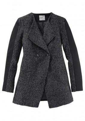 Wool coat, grey-black