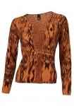Išverčiamas oranžinis megztinis