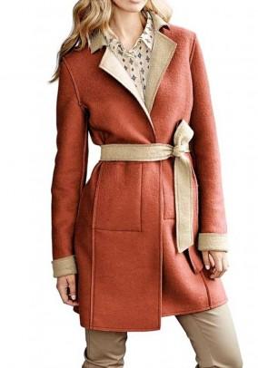 Išverčiamas dviejų spalvų paltas