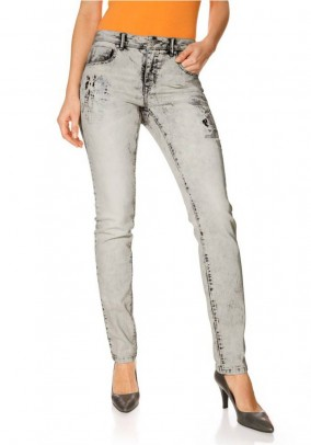 Skinny jeans, stone grey