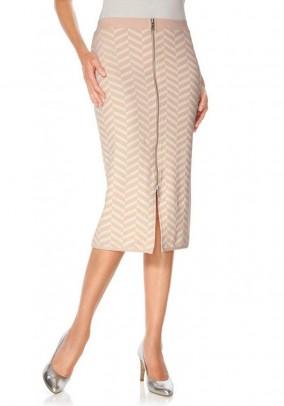 Pudros spalvos sijonas