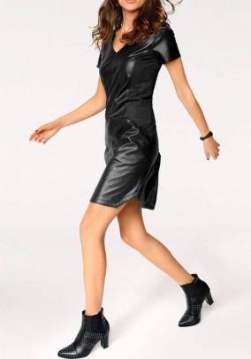Odinė juoda suknelė